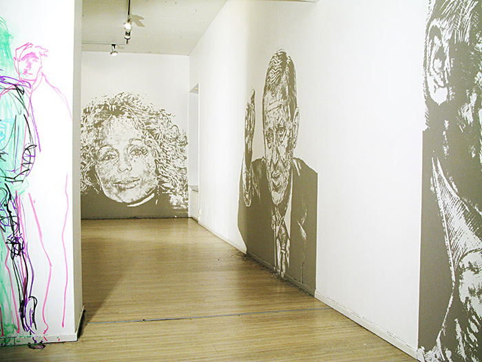 Up Against the wall 1. Gallery Konstepidemin 2009. © Nils Ramhøj