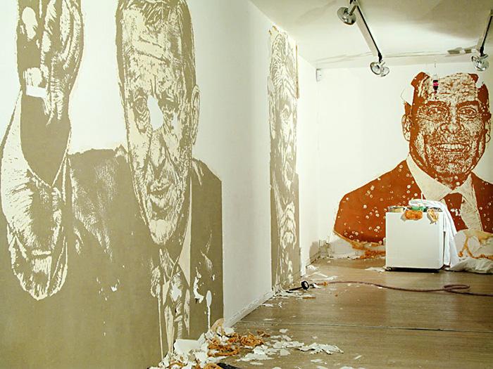 Up Against the wall - Tabula Rasa, Gallery Konstepidemin 2010 © Nils Ramhøj