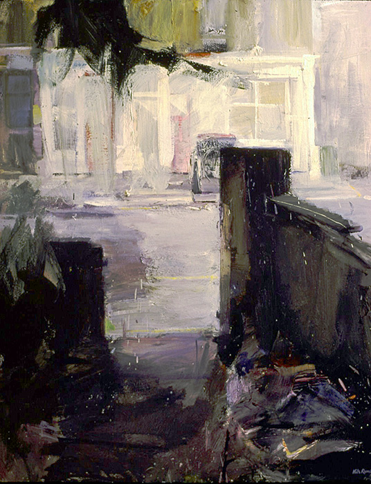 Camberwell New Road 1981. Oil on canvas 97x82cm