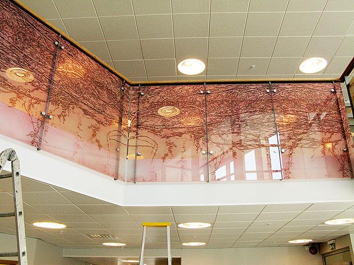 Ranka II, 2x3st glasdelar. Glasräcke, laminerat glas Kaggeleds Äldreboende 2012