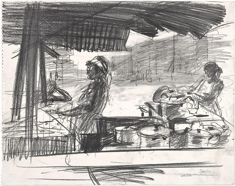 Kitchen in the street, Iquitos, Peru