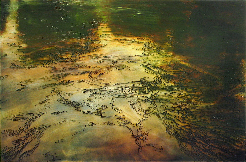 The River 2, 2011. Oil on plexi 100x150cm