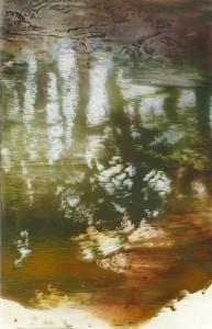 Under the trees. Oil on plexi 40x27cm 2010