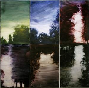 Reflexions. Oil on acrylic glass 81x82cm