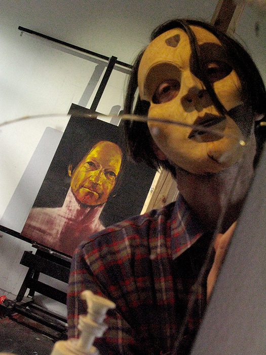 The journey of the masks. Nils Ramhøj in the studio.