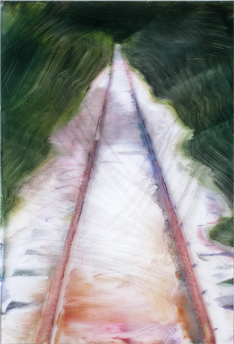 Tracks.-Oil-on-plexi-40x27cm