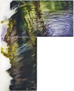 Water.Oil on plexi glass 67,5x54cm 2010