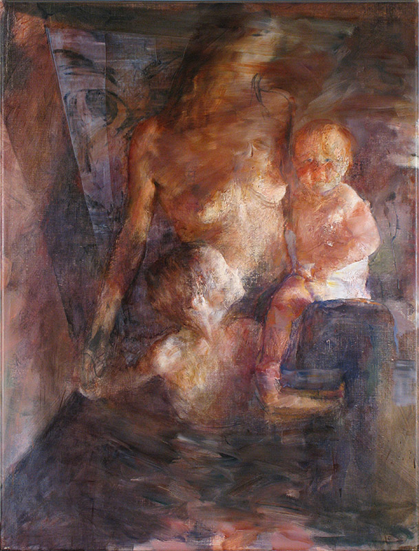La Familia. Oil on canvas 163x123cm