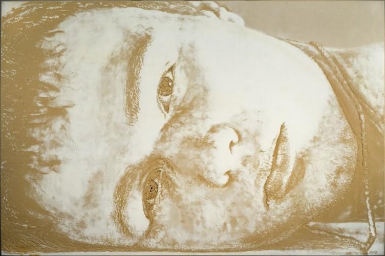 Resting son, acrylic on wood 130x195cm