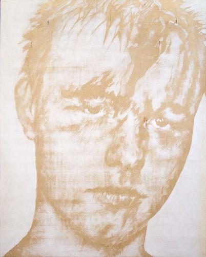 White son I, acrylic on wood 125x100cm