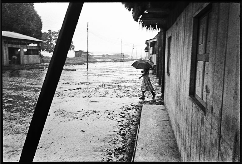 Rain at the river Ucayali,Peru