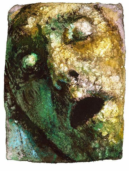 Requiem IV, vinyl på papper, 21x16 cm